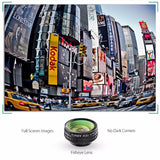 434-180 Degree Fisheye Lens+Wide Angle+Macro Lens