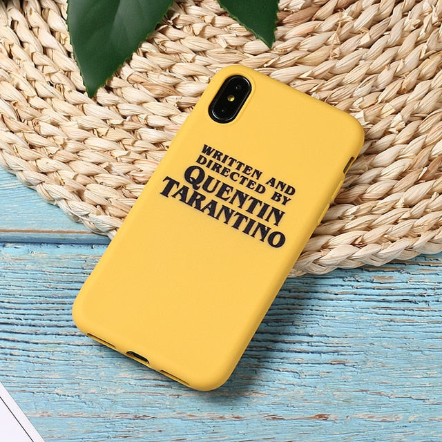 Quentin Tarantino Movie Star Funny Letter Instagram Soft Phone Case
