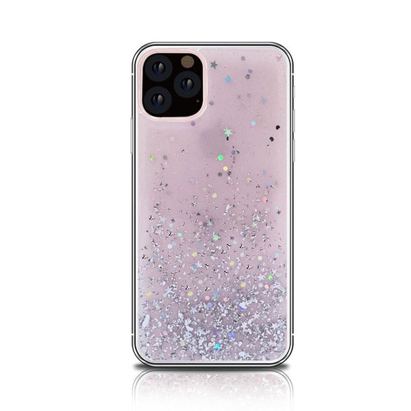 Soft Silicone Bling Glitter Transparent protective back cover
