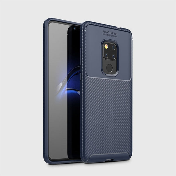 Armor Carbon Fiber Case Huawei Lite Case Silicone Back Cover