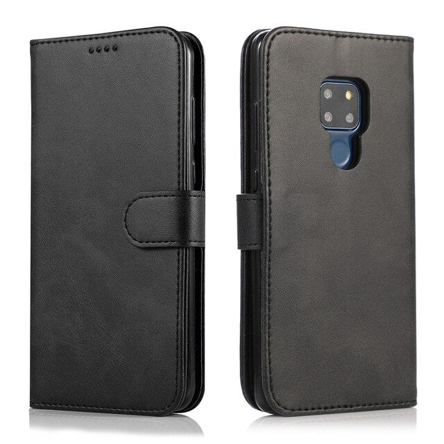 Hand Made Leather Huawei Case Card Holder Wallet Flip