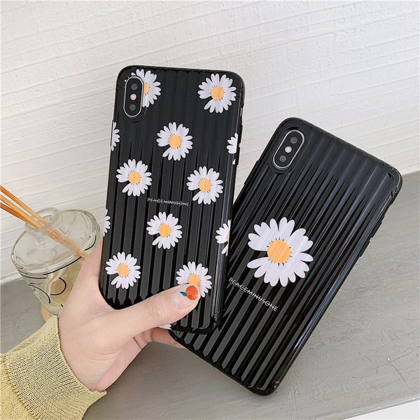 Simple Daisy Flower Pattern Phone Case For iphone 11 11 Pro 11 Pro Max X XR XS Max Back Cover