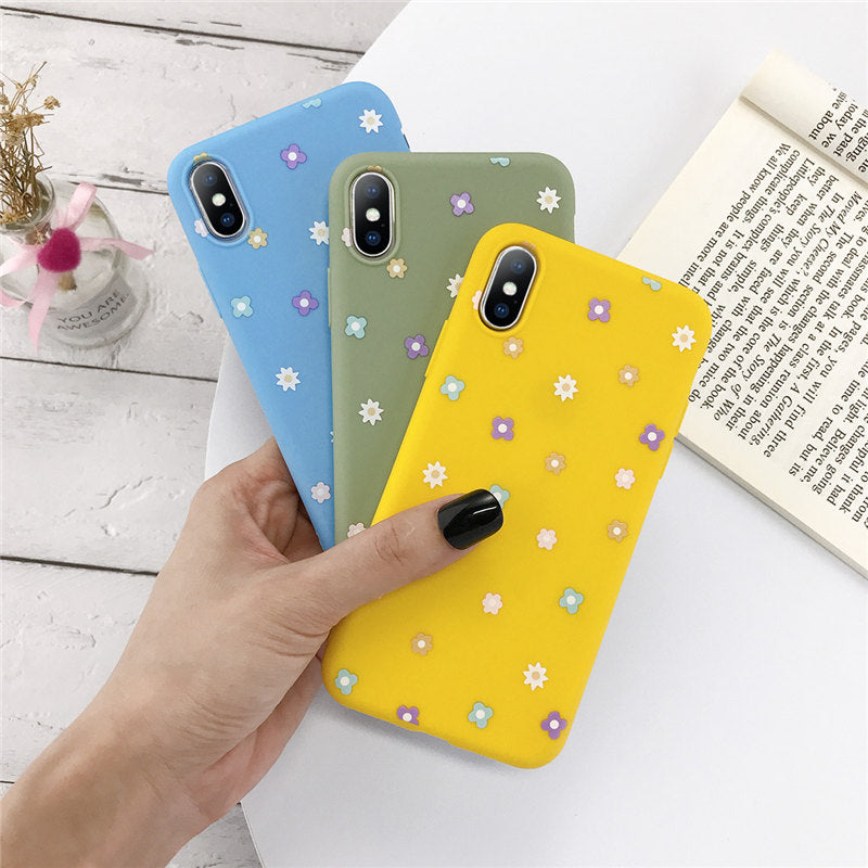 Love Heart Flowers Phone Case For iPhone 11 Pro