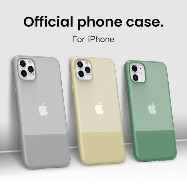 Advanced Transparent Matte Liquid Silicone protection Cases For iPhone