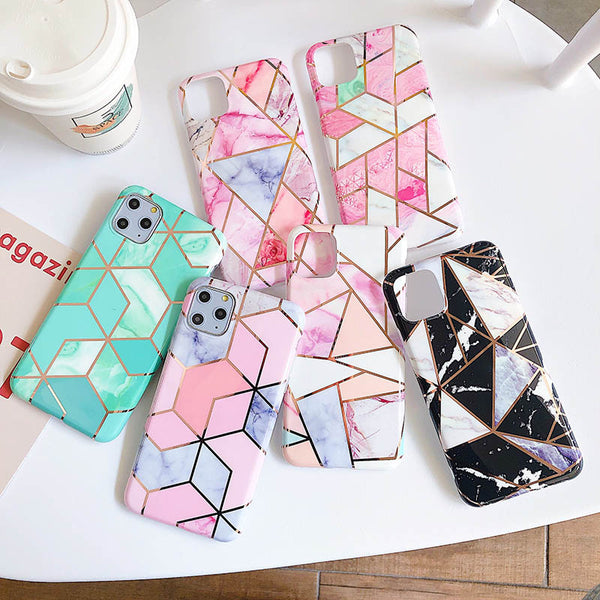 Marble Soft TPU Bling Silicone Case for iPhone