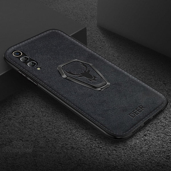Fabric Bracket Magnet Holder Case for Huawei