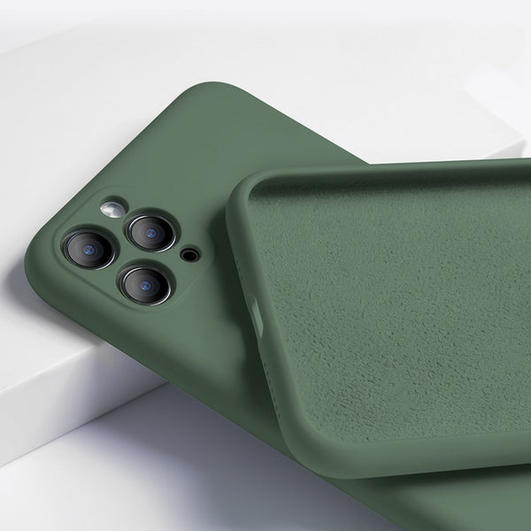 Shockproof Liquid Silicone Matte Soft Cover For iPhone