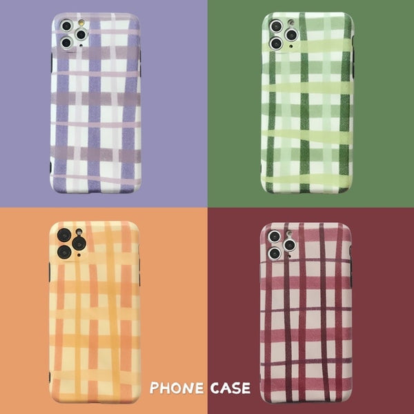 British Style Woven Soft Silicone Protective Case For iPhone
