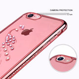 419-Bling Rhinestone Swan Peacock Cover Case For iPhone