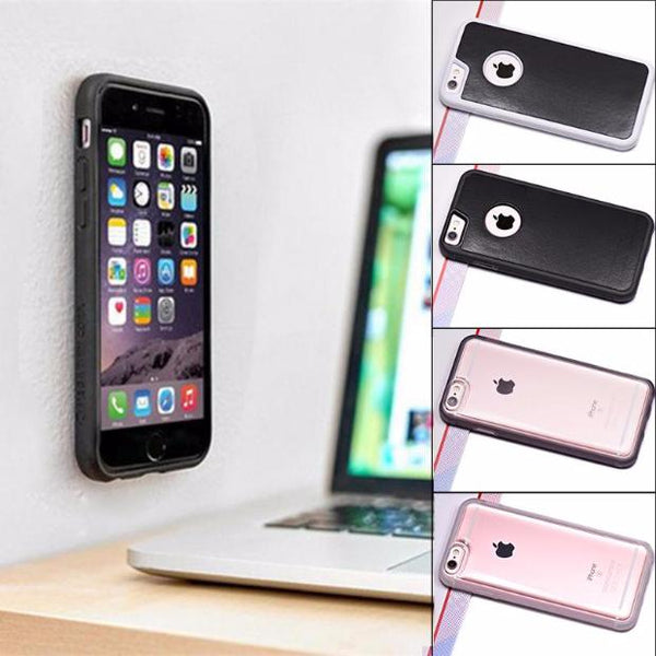 539-Antigravity Plastic Magical Anti Gravity Nano Suction Adsorbed Case For iPhone