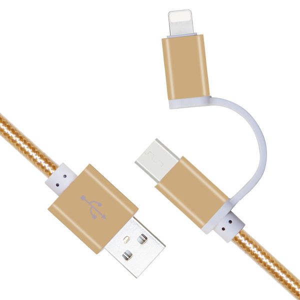 010-2 in 1 Micro USB Cable / Fit for Android & IOS