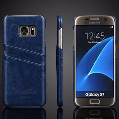 Luxury Leather Case For Samsung_blue