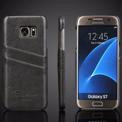 Luxury Leather Case For Samsung_black
