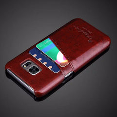 Luxury Leather Case For Samsung_brown