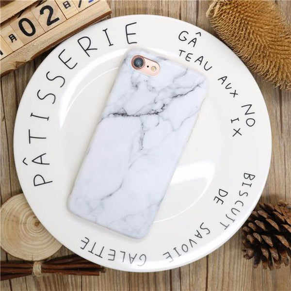 452-Fashion Marble Phone Cases for iPhone