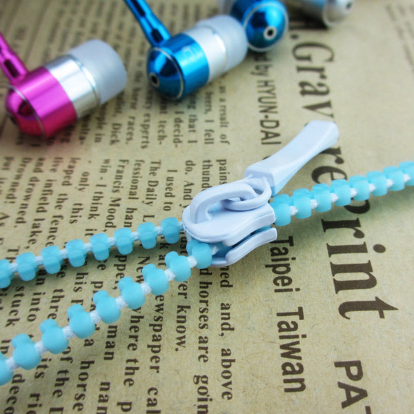 111-Zipper Metal Light Earphone