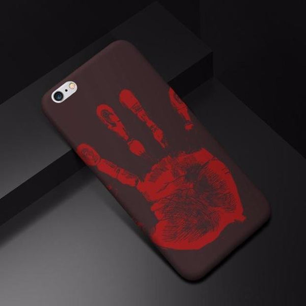 Thermal Induction Silicone Back TPU Cases For iPhone-black
