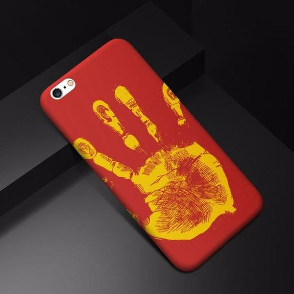 Thermal Induction Silicone Back TPU Cases For iPhone-red