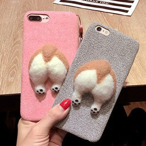 137-Cute Cat & Dog Cover Case For iPhone