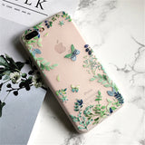 494-Flower Silicone Matte Case For iPhone