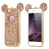 Luxury Bling Sequins Silicone Case For iPhone 7 Plus 6 6s Plus 5 5S SE-gold