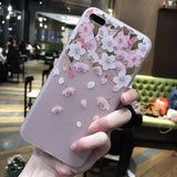 207-3D Flowers Phone Cases For iPhone