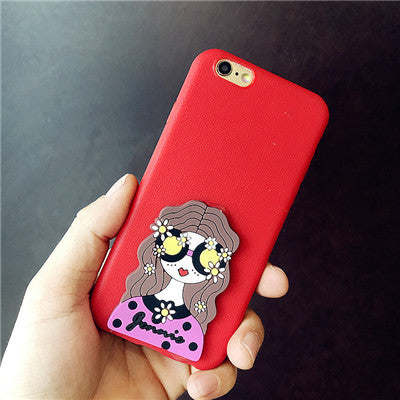 167-Pretty Cartoon Girl Cover Case For iPhone