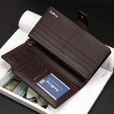 C025-Men's Zipper Multi-Function Leather Long Wallet