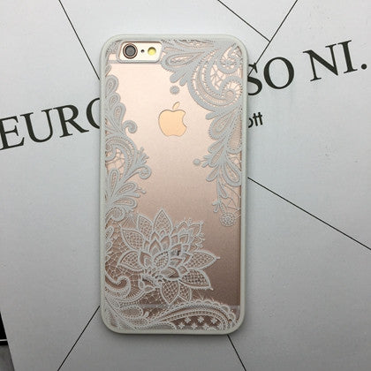 Flower Lace Full edge Protection Mandala Vintage Case For iPhone-15