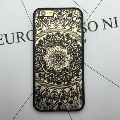 Flower Lace Full edge Protection Mandala Vintage Case For iPhone-9