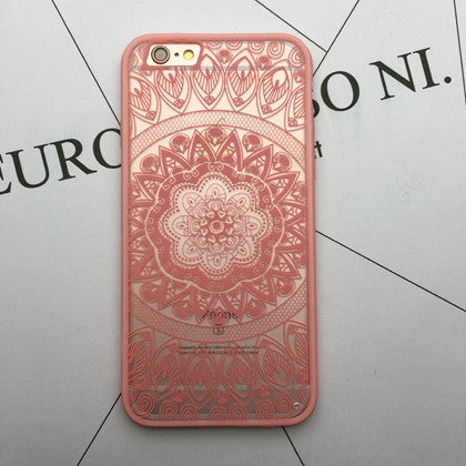 Flower Lace Full edge Protection Mandala Vintage Case For iPhone-6