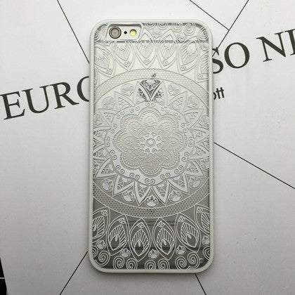 Flower Lace Full edge Protection Mandala Vintage Case For iPhone-13
