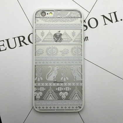 Flower Lace Full edge Protection Mandala Vintage Case For iPhone-7