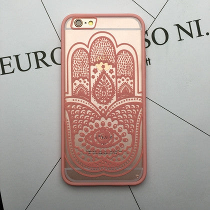 Flower Lace Full edge Protection Mandala Vintage Case For iPhone-8