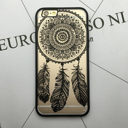Flower Lace Full edge Protection Mandala Vintage Case For iPhone-20