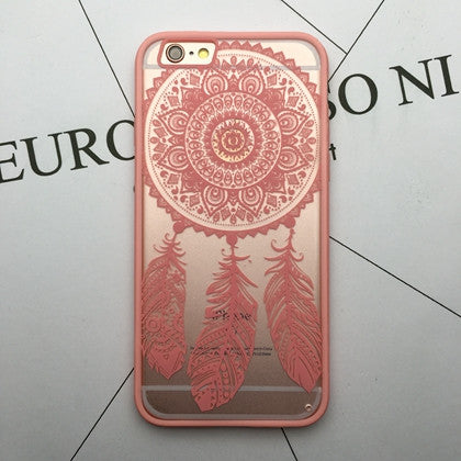Flower Lace Full edge Protection Mandala Vintage Case For iPhone-3