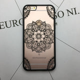 Flower Lace Full edge Protection Mandala Vintage Case For iPhone-22