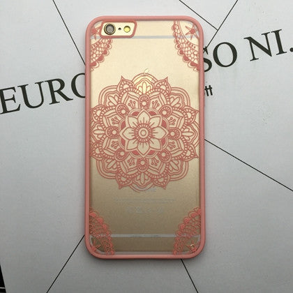 Flower Lace Full edge Protection Mandala Vintage Case For iPhone-19