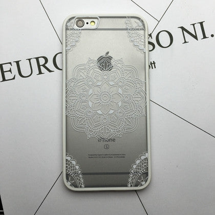 Flower Lace Full edge Protection Mandala Vintage Case For iPhone-10