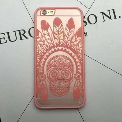 Flower Lace Full edge Protection Mandala Vintage Case For iPhone-21