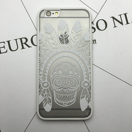Flower Lace Full edge Protection Mandala Vintage Case For iPhone-4