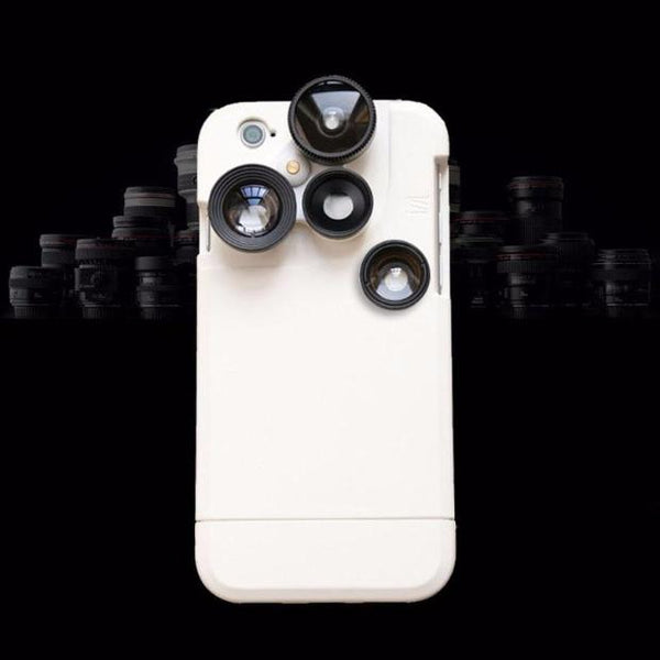 526-Wild angle Fisheye Macro Lens Phone Cases For iPhone