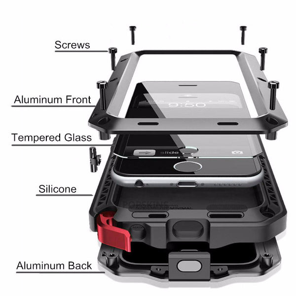 Heavy Duty Doom Armor Metal Case For iPhone