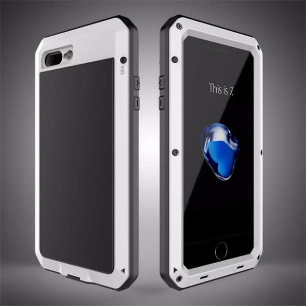 Heavy Duty Doom Armor Metal Case For iPhone-white