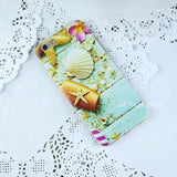443-Summer Beach Relax Starfish Ocean Sky Sun Silicone Soft TPU Case For iPhone