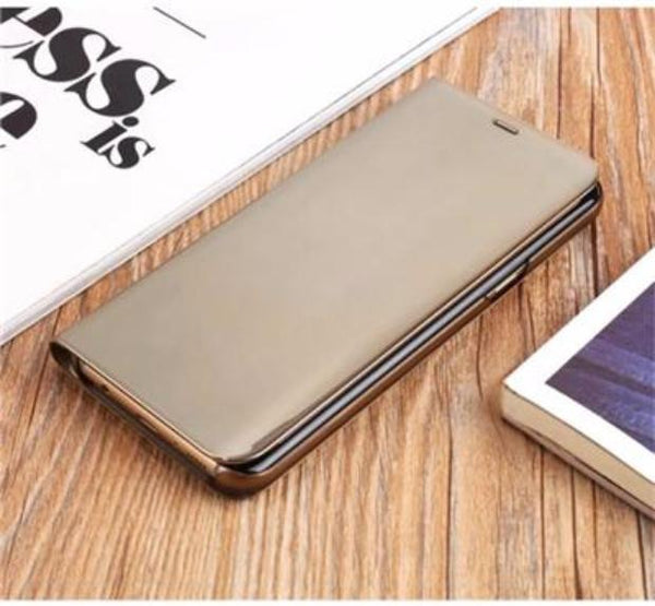 2017 Mirror Smart Leather Phone Case For Samsung-gold