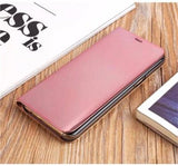 2017 Mirror Smart Leather Phone Case For Samsung-rose gold