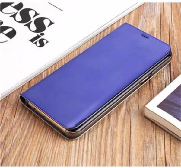2017 Mirror Smart Leather Phone Case For Samsung-black