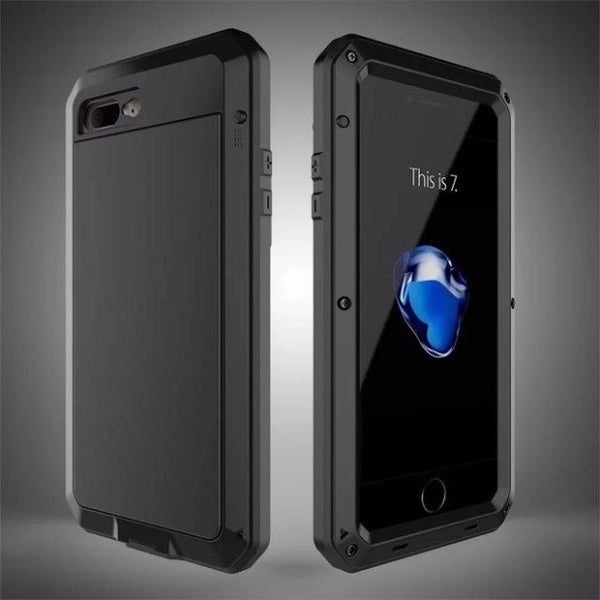 Heavy Duty Doom Armor Metal Case For iPhone-black