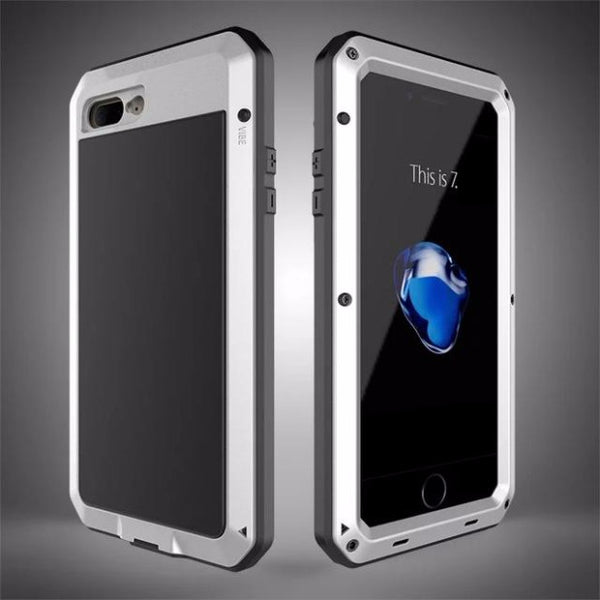 Heavy Duty Doom Armor Metal Case For iPhone-silver